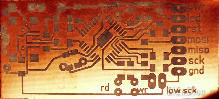 Программатор-для-AVR-usb.(AVR910)_Programmator-dlja-AVR-usb.(AVR910)_Плата-защитный-исунок