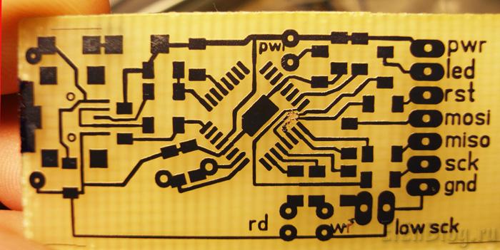Программатор-для-AVR-usb.(AVR910)_Programmator-dlja-AVR-usb.(AVR910)_Протравленная-плата