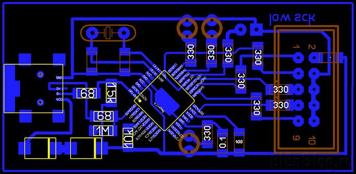 Программатор-AVR910-с-ISP-коннектором_01