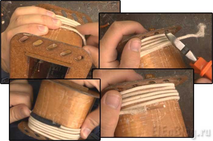 Как-намотать-трансформаторПервичная-обмотка-(Расчёт-и-перемотка-трансформатора-#4.1)_Правильная-спайка-обмоточного-провода