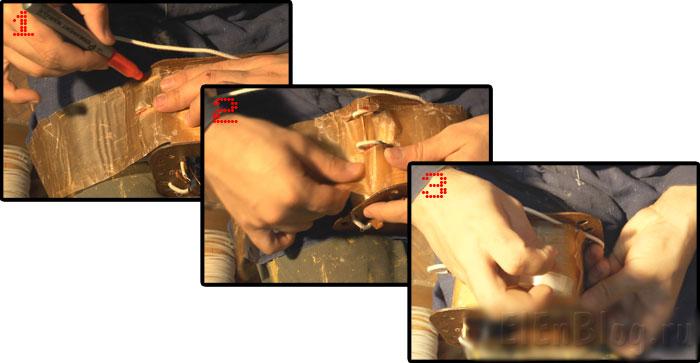 Как-намотать-трансформаторВторичная-обмотка-75В,-12А.(Расчёт-и-перемотка-трансформатора-#4.3)_Изолируем-межобмоточной-изоляцией
