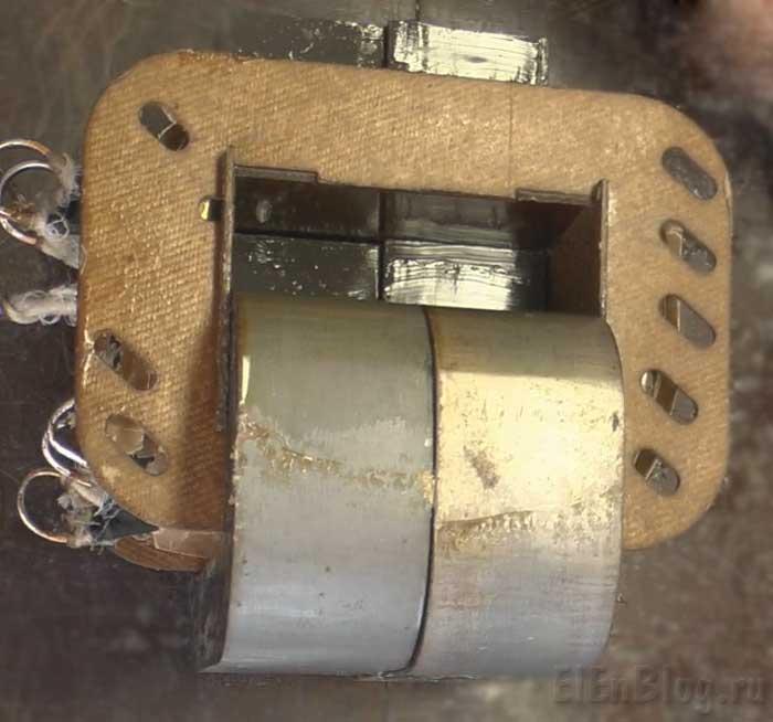 Сборка-перемотанного-трансформатора-(Расчёт-и-перемотка-трансформатора-#5)_Стыковка-трансформаторного-железа