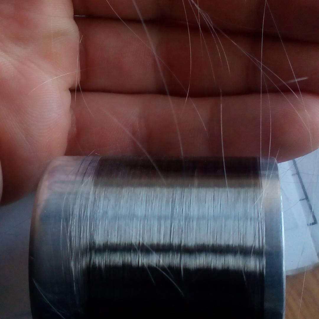 """Микропровод в стеклянной изоляции, увидев его я сказал что он как волос, но специалист меня поправил -""""тоньше волоса!"""""""