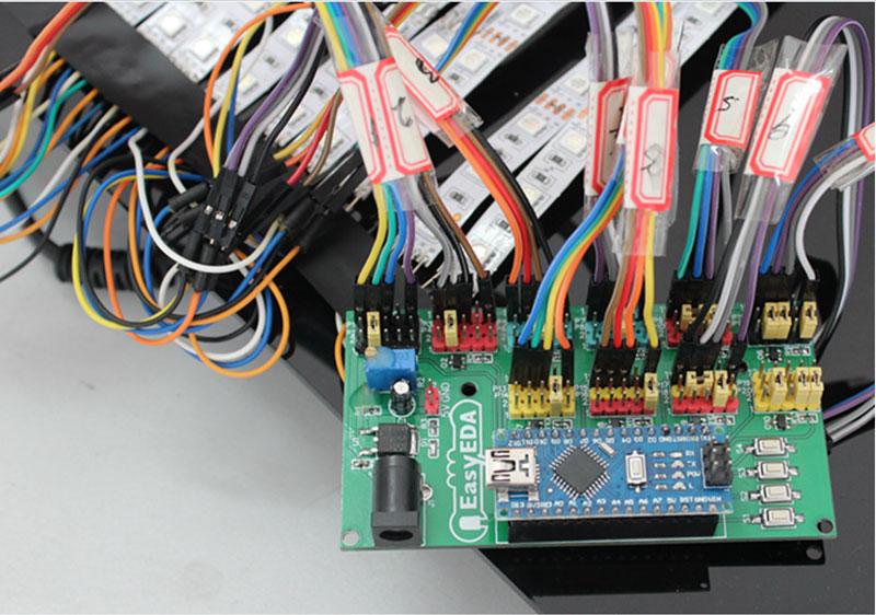 Kak sdelat' LED Begushhuju Stroku na Arduino v EasyEDA11